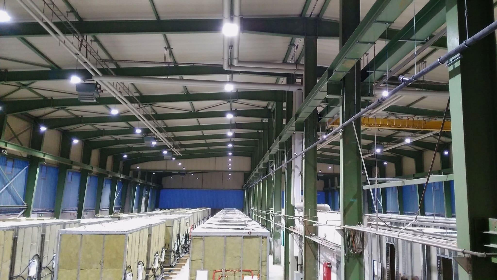 LED Umrüstung Industriehalle